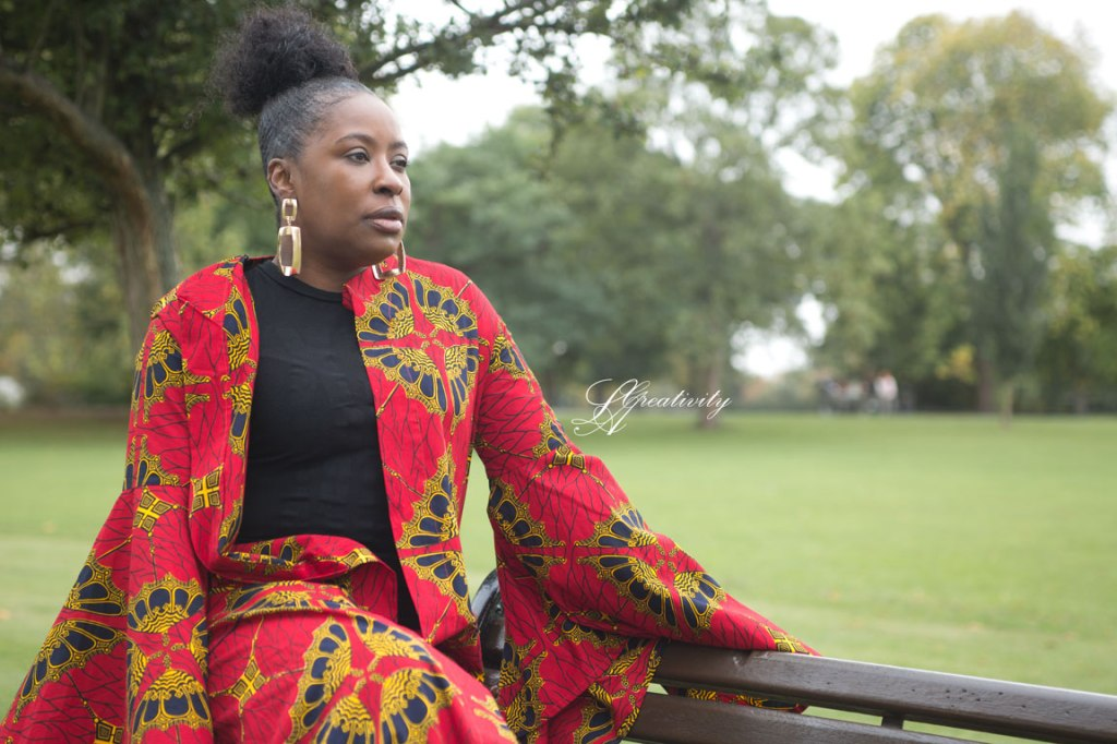 The Sisterhood of the Travelling Dress,Ankara print, Ankara Travelling dress, Traveling dress, Marianne Miles, UKBFTOG, UK Black Female Photographer, Photography Project, Lifestyle Photographer, London Photographer, Clissold Park, LA Creativity